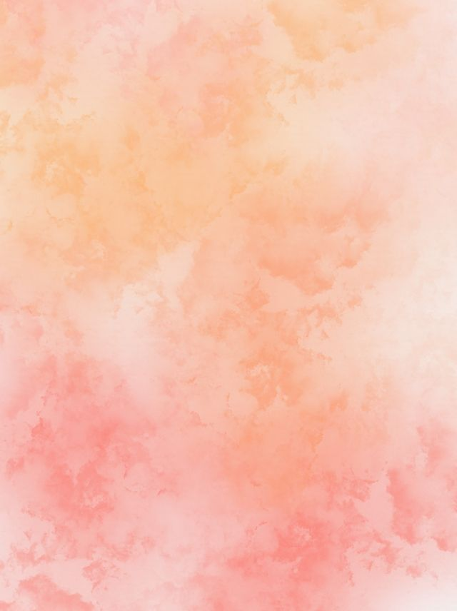 Coral Orange Color Gradient Ink Watercolor Background