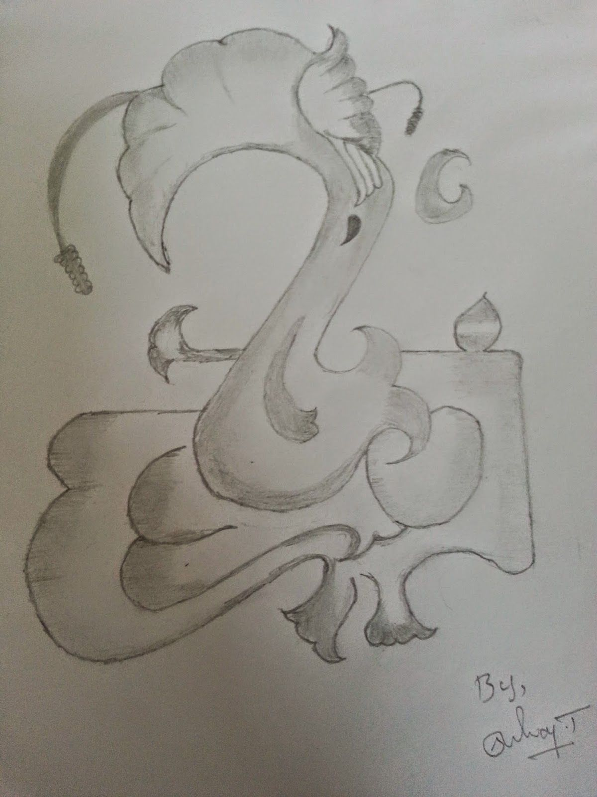 Sketch Ganpati Pencil Sketch