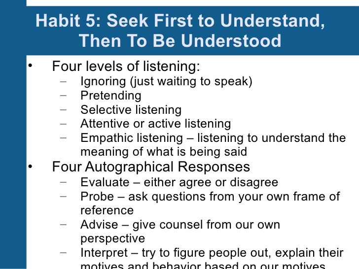 7 Habits Of Highly Effective People Session 5 Highly Effective