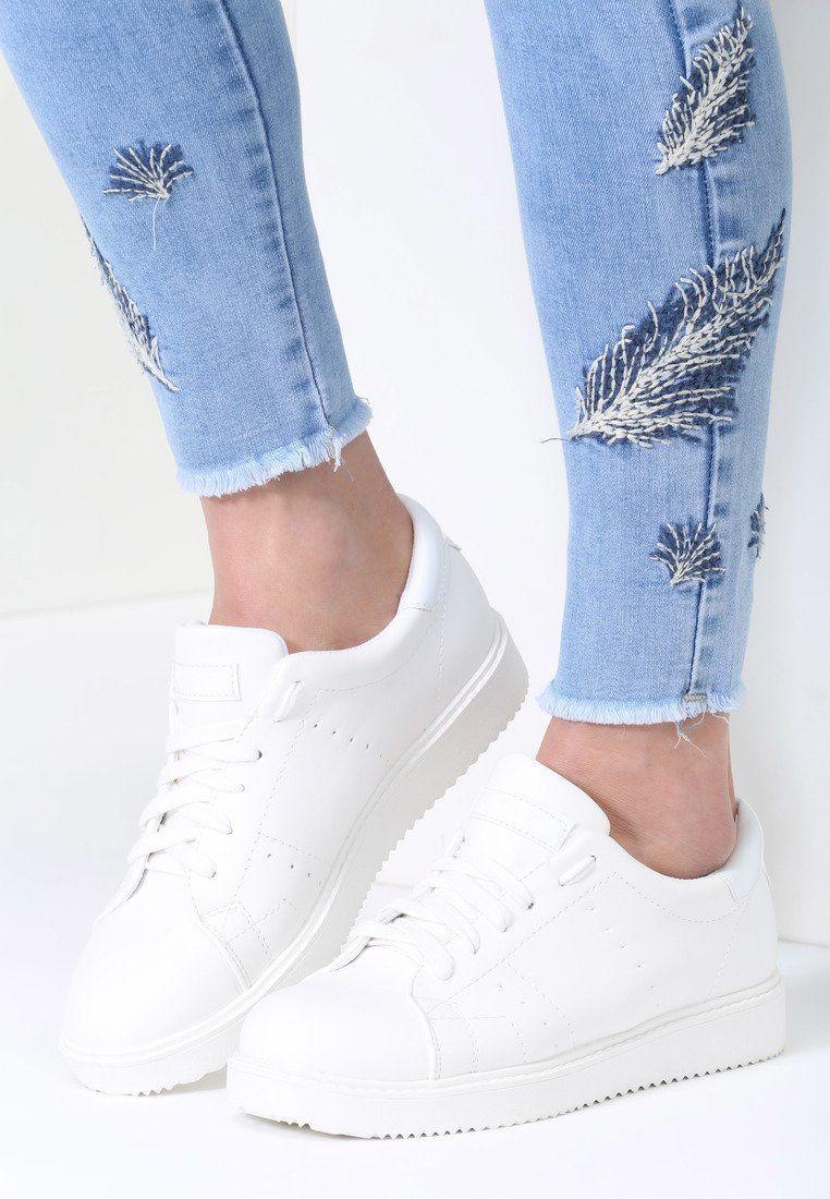 Biale Buty Sportowe Elastic Hands Converse Sneaker Shoes Converse