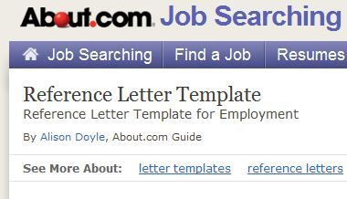 Free Reference Letter Template For Employment  Reference Letter