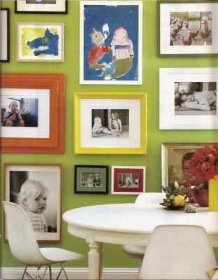 Photo Wall Inspiration Home Decor Art Display Kids Decor