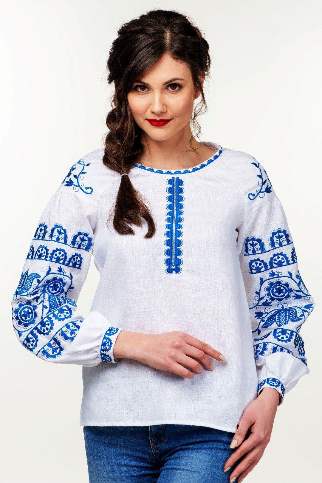 Жіноча вишиванка (754)Жіноча вишита сорочка від українського виробника