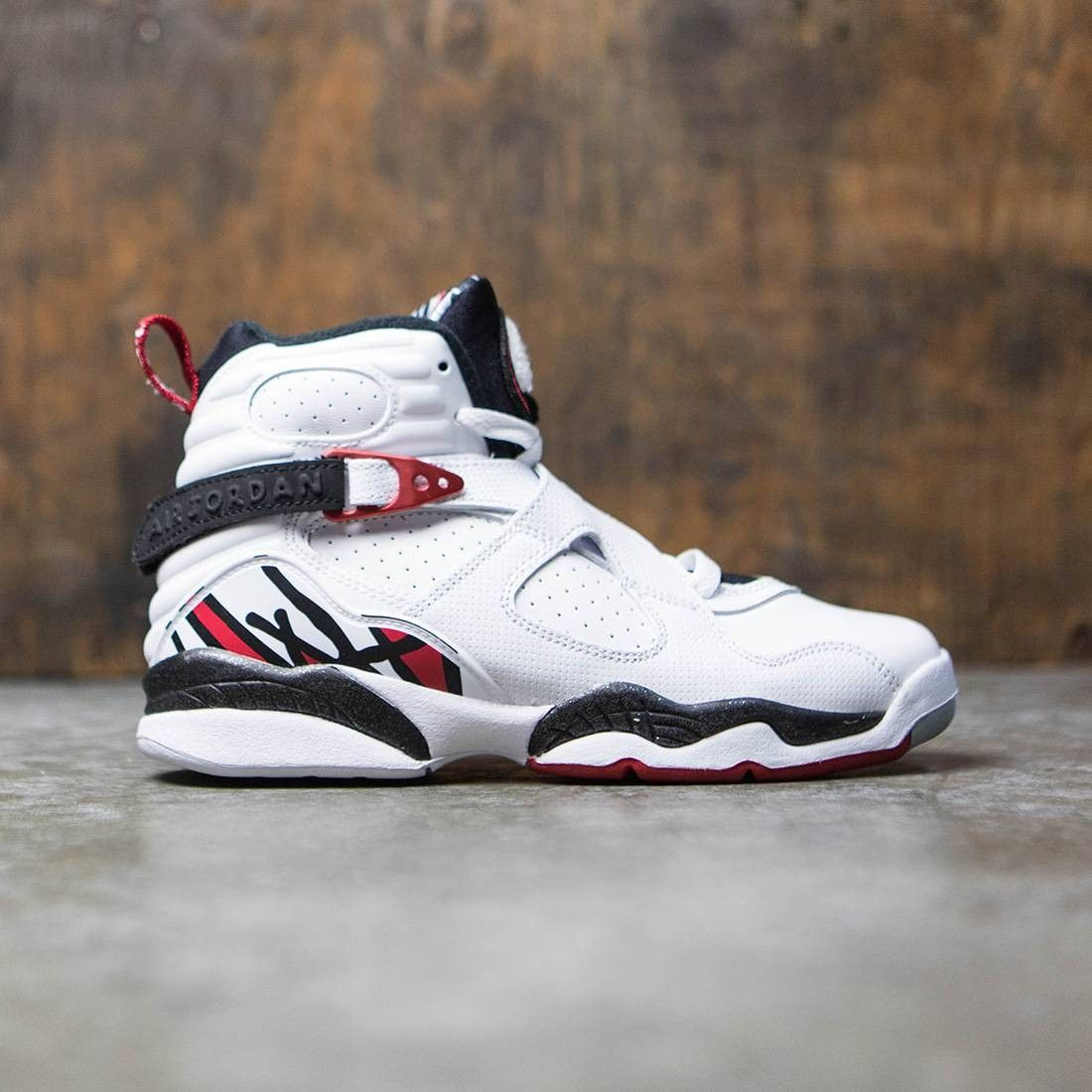 33a2c9a2920bbe Jordan Big Kids AIR JORDAN 8 RETRO (GS) (white   gym red-black-wolf grey)