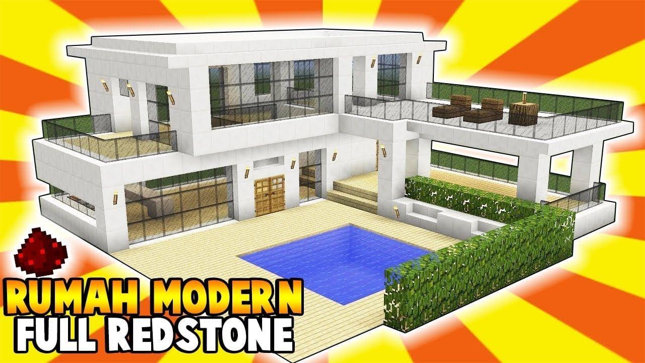 Desain Rumah Modern Di Minecraft Di 2021 Rumah Modern Desain Rumah Desain Rumah Minimalis