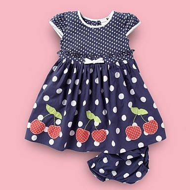 Baby's blue cherry spotted dress - Day - Girls dresses - Kids -