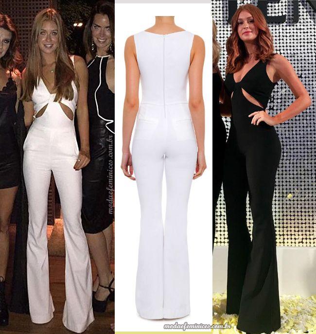60f4fad94f08ae Pin de Veronica Añazco em Woman in pants   Macacão, Macacão preto e ...