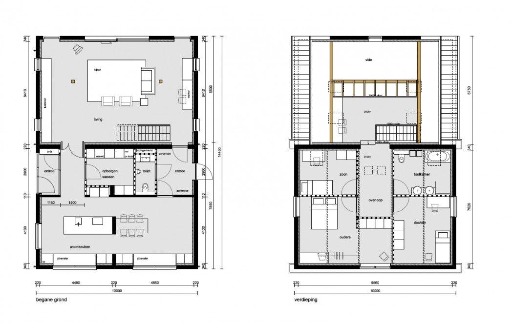 Woonboerderij plattegrond google zoeken boerderij pinterest house architecture and - Plan indoor moderne woning ...