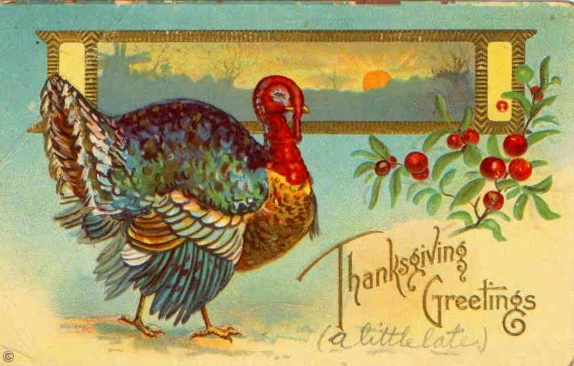 Vintage Everyday  Funny And Cute Vintage Thanksgiving Postcards