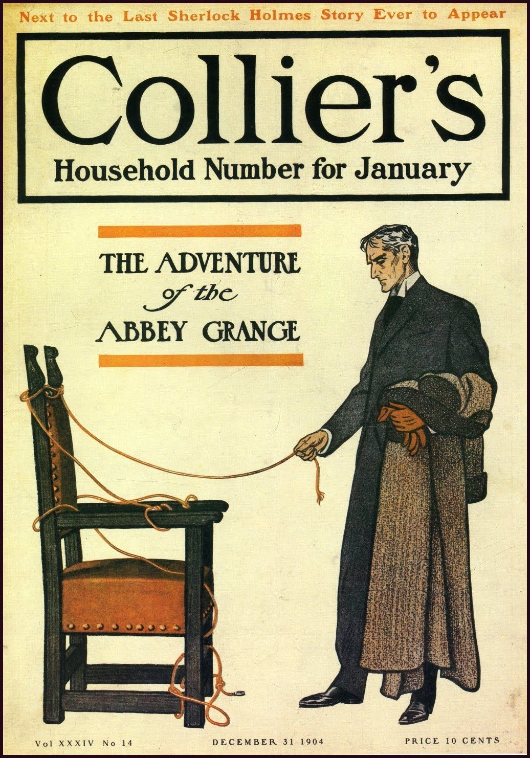17 Holmes 1904 12 31 Colliers Fdsteele Jpg Image Sherlock Holmes Stories Sherlock Holmes Sherlock