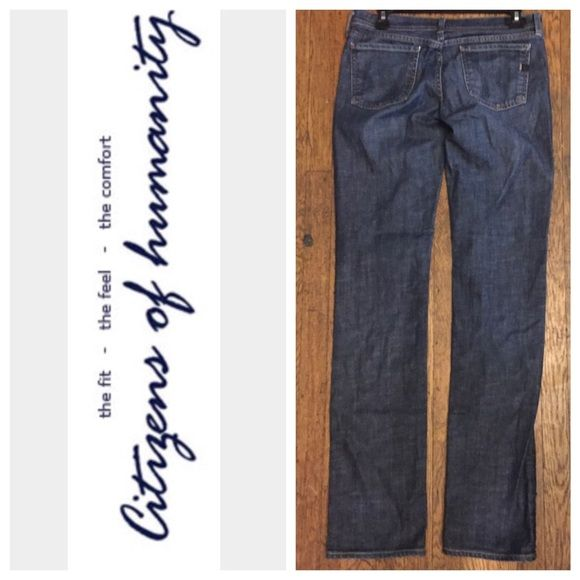 """CITIZENS OF HUMANITY """"AVA"""" DENIMS.   NWOT Straight leg low waist.....Inseam 34 1/2'.     Rise 7 1/2"""".    Stretch 99% Cotton 2% Spandex.               Waist is 31"""".                                                    V v  TRADES  AUTHENTIC  PAYPAL 1️⃣0️⃣% Off Bundles ⛔️ Accept Offers  Fast Shipping  LOW BALLERS Citizens of Humanity Jeans Straight Leg"""