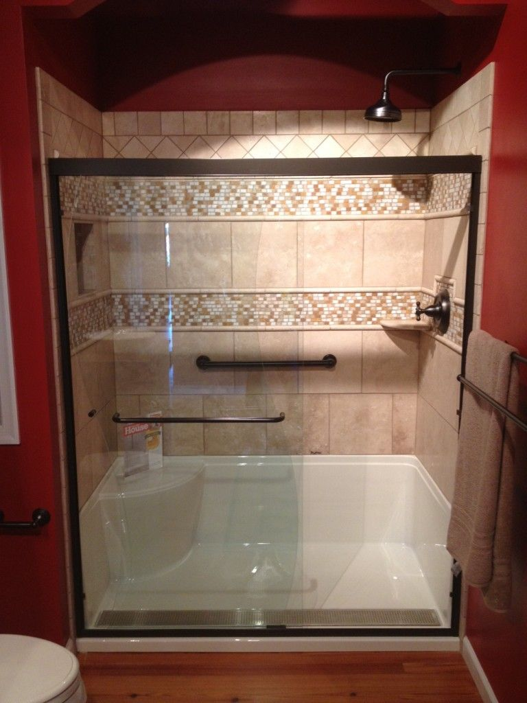 Small bathroom makeovers taking out the tub google - Bathroom tile design ideas for small bathrooms ...