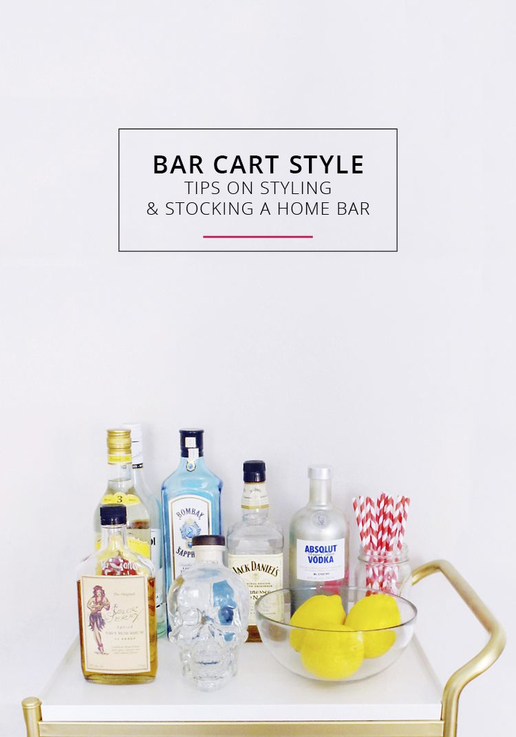 bar cart style tips on styling and stocking a home bar - How To Style A Bar Cart