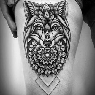 Fox Tattoo Black And White Google Search Geometric Tattoo Cool Tattoos Fox Tattoo