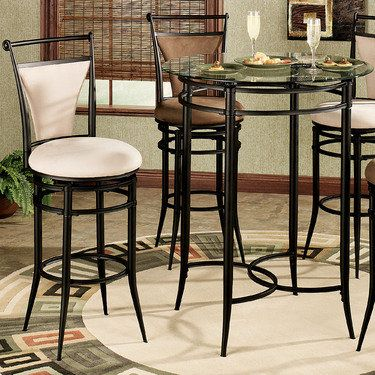 Camira Cafe Bar Height Bistro Table And Chairs Set Bistro Table