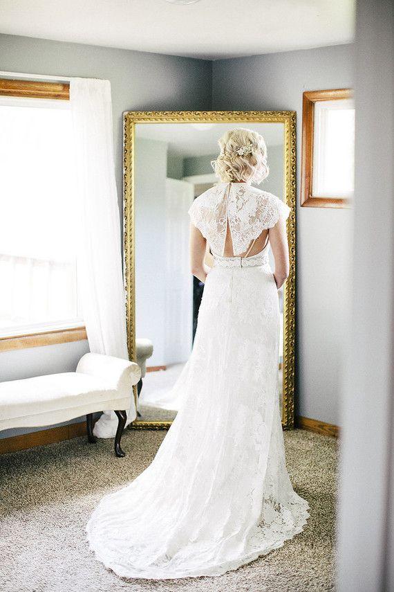 Vintage Wedding Dress Lace Wedding Dress Vintage Wedding