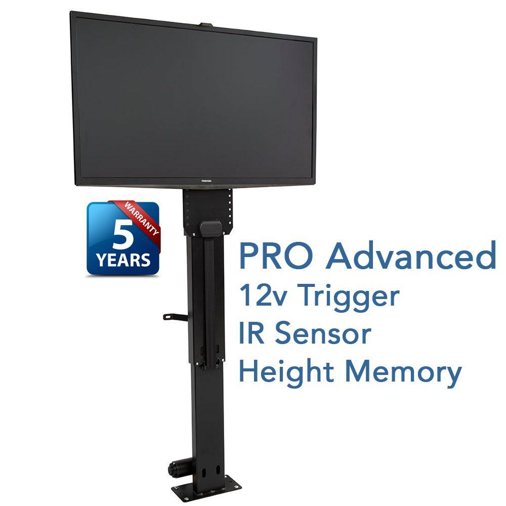 The Whisper Lift Ii Pro Touchstone S Advanced Tv Lift Mechanism Tv Lift Mechanism Motorized Tv Lift How To Speak Spanish