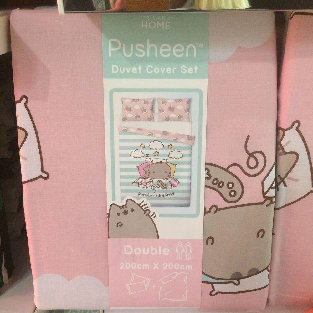 Details about PUSHEEN THE CAT Duvet Reversible Bed Set