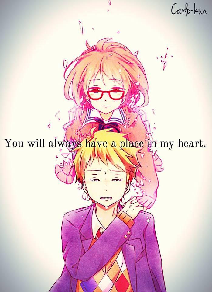Anime:Kyoukai no kanata | Sad anime quotes | Pinterest | Anime ...