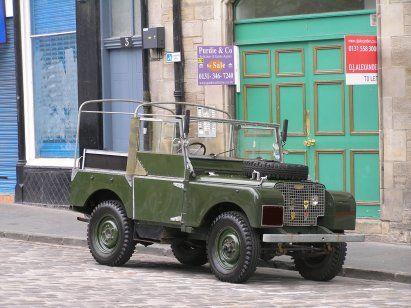Early Land Rover Edinburgh Greenmarket | the empire's revenge on the
