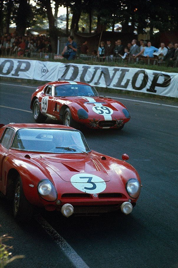 Bizzarrini and a Shelby Cobra Cuope