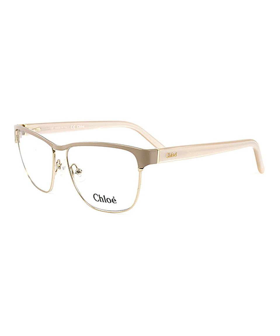 93f18932b2d Take a look at this Chloé Gold   Nude Eyeglasses today!