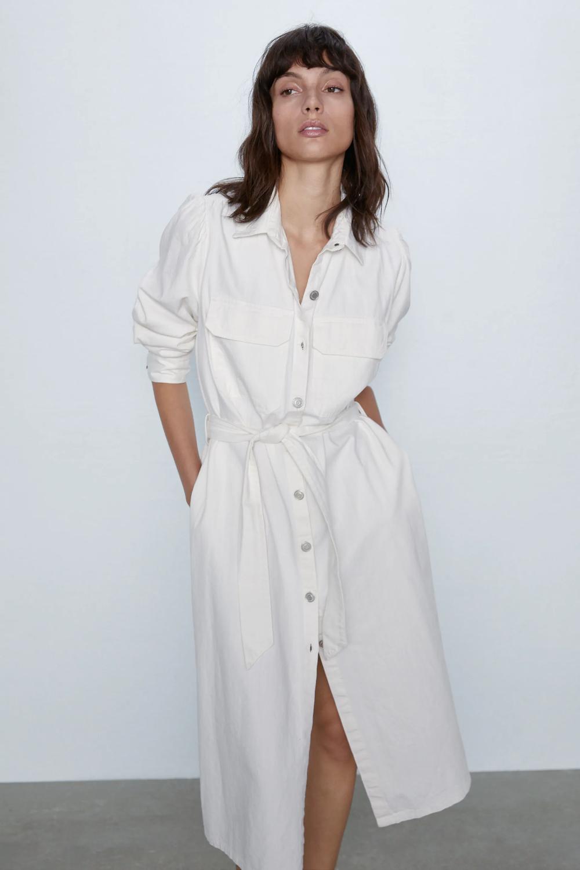 14+ White denim dress info