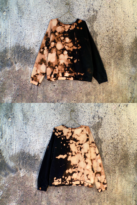 studio715 | bleach colorblock grunge sweatshirt |