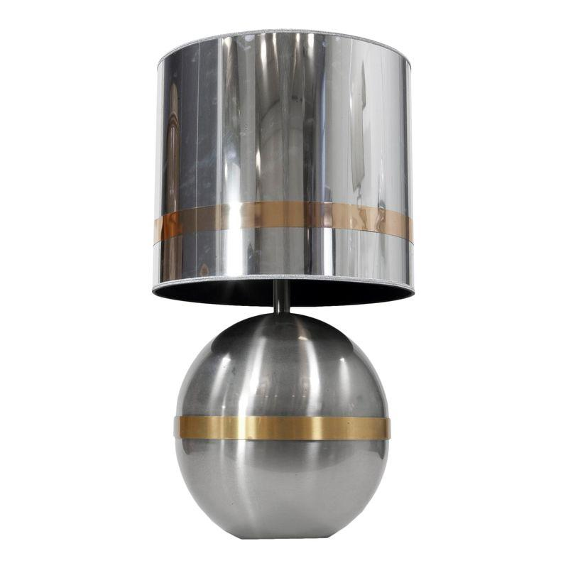 Reggiani Spherical Chrome With Brass Table Lamp Lamp Table Lamp Brass Table