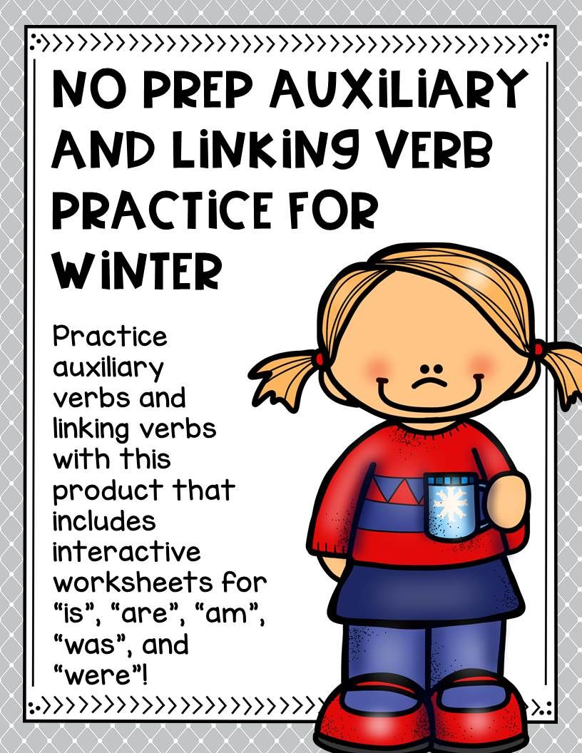 No Prep Auxiliary And Linking Verb Practice For Winter Verb Practice Linking Verbs Verb [ 1056 x 816 Pixel ]