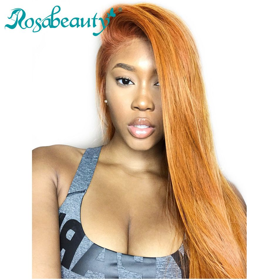 Lace Frontal Wigs Brazilian Straight  Human Hair Wig For