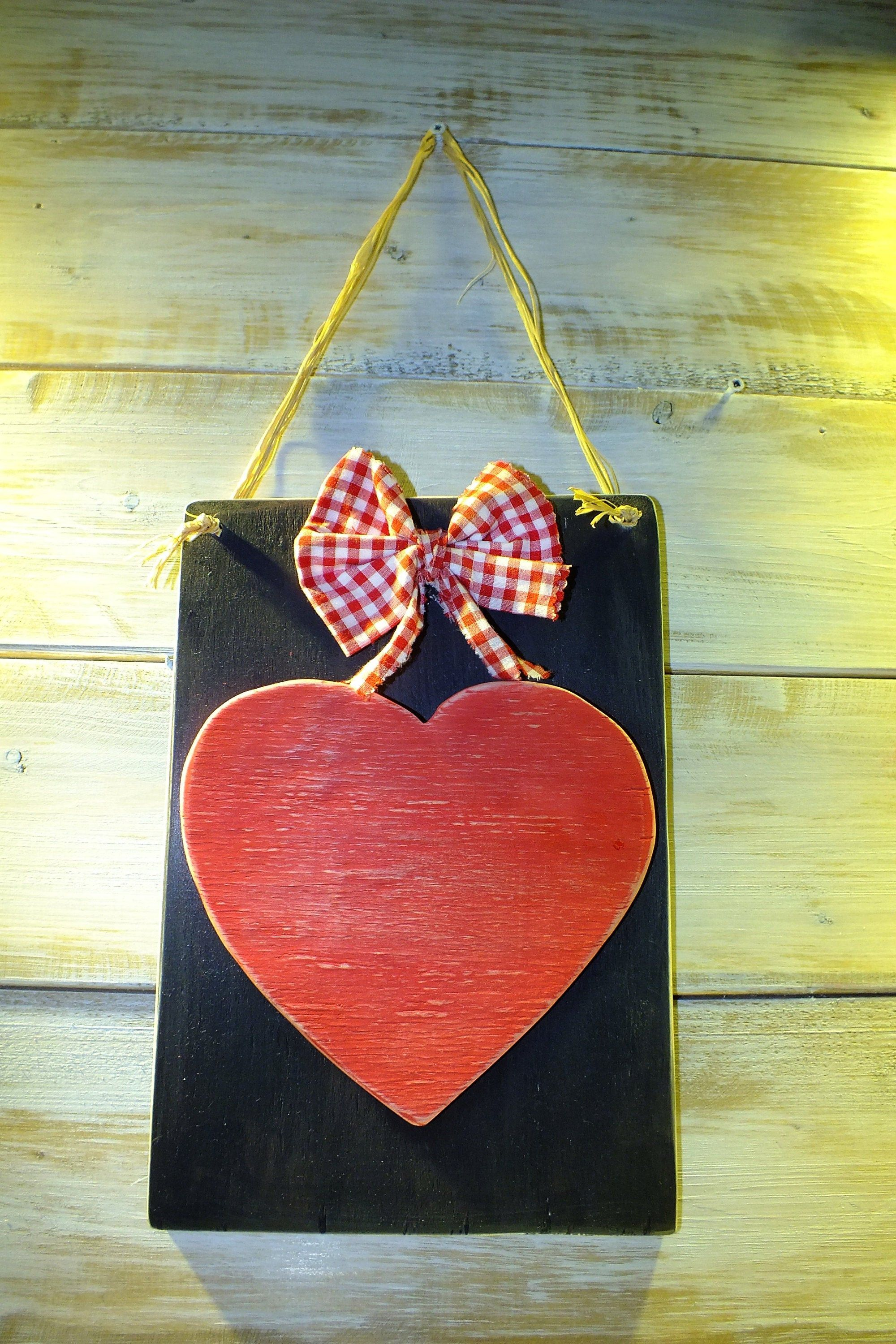 Hanging Wooden Hearts Rustic Red Hearts For Door Or Indoors Valentine S Day Decor Romantic Decor Heart Board Heart Romantic Decor Heart Ornament Wooden Hearts