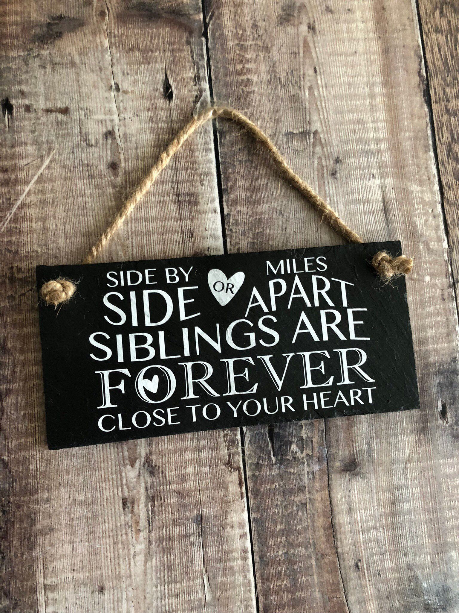 Siblings Quote Side By Side Or Miles Apart Brother Sister Etsy Sibling Quotes Gift For Brother Sister Moving Away