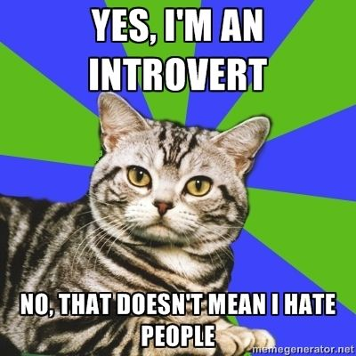 Don't get me wrong, I hate people, but it's not because of introversion.  It's because people are stupid.