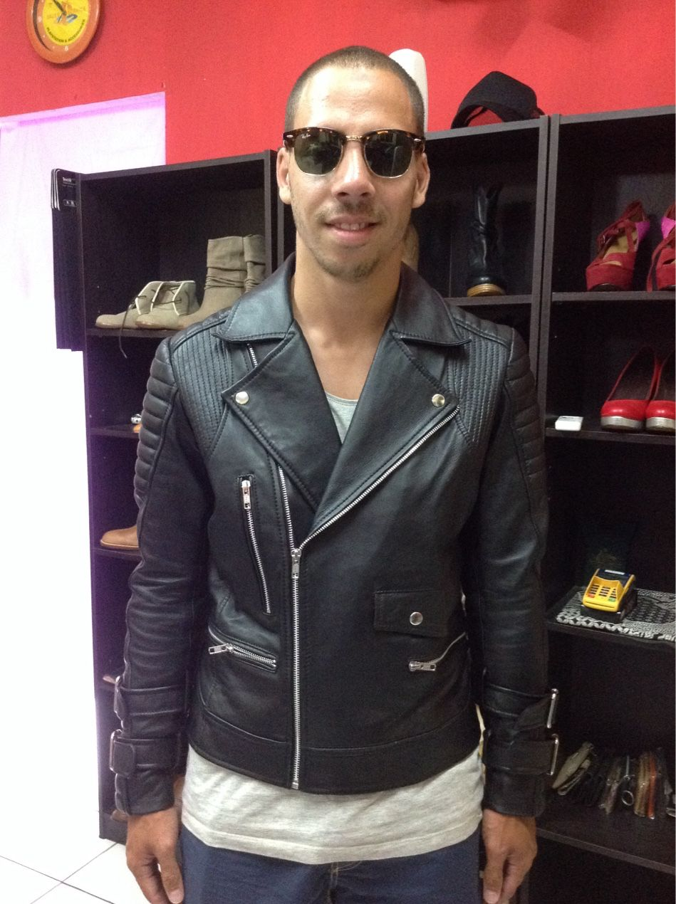 7f1911d098ff Leather jacket in bali black colour made by kuta leather and tailor ...