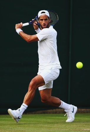 Feliciano Lopez in action at t...