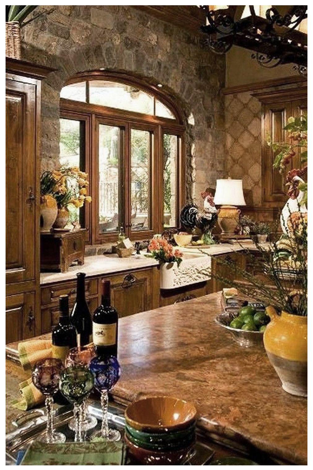 20 Catchy Mediterranean Kitchen Design Elements Ideas In 2020 Mediterranean Kitchen Design Tuscan Style Tuscan Design