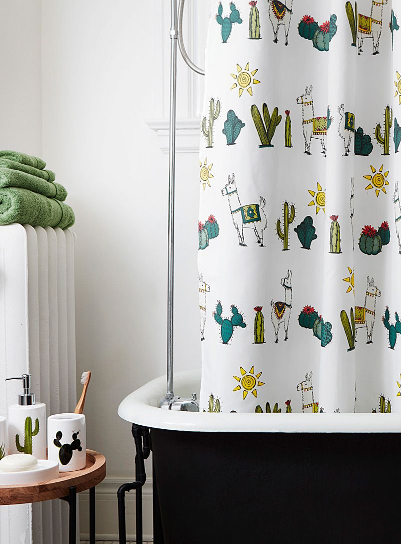 Desert Llamas Shower Curtain Cool Shower Curtains Fabric Shower