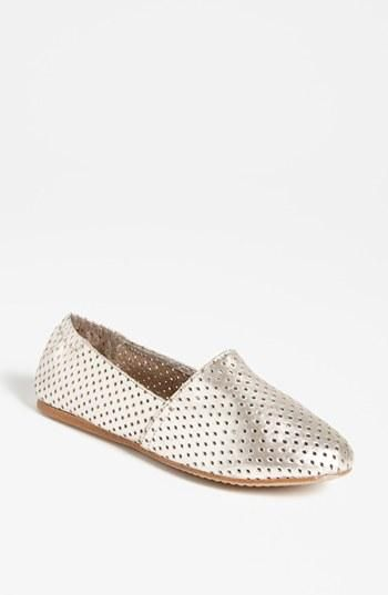 Perforated Steve Madden flats - love the metallic!