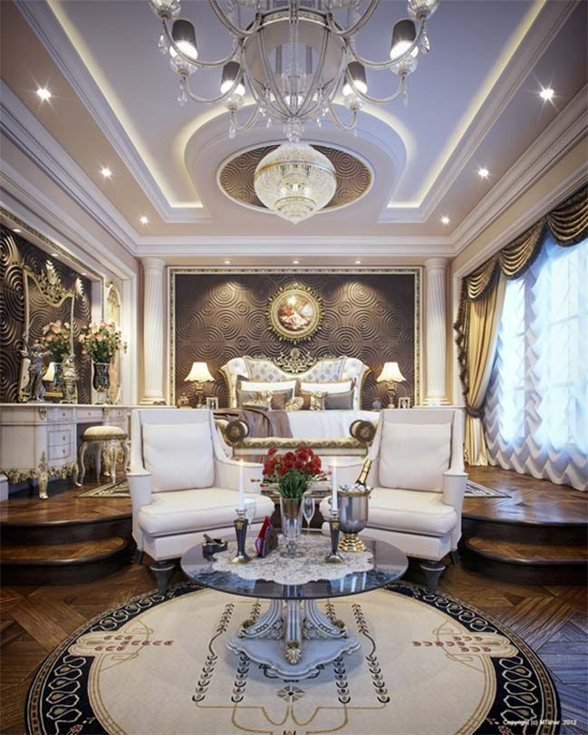 Queen Qatar Luxury Homes: Luxurious Bedroom Design In Qatar