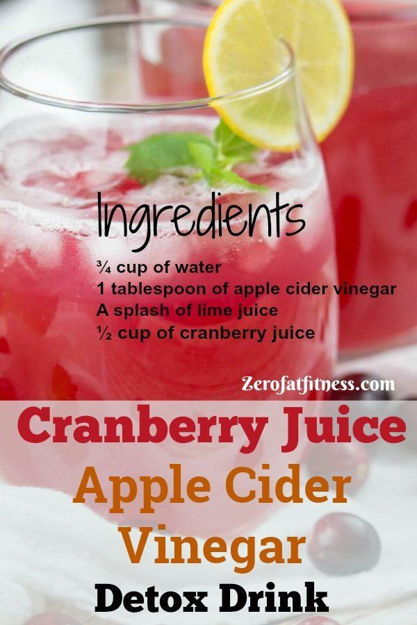 Apple Cider Vinegar for Weight Loss - 3 Detox Drink Recipes for Flat Belly  - Healthy Recipes -