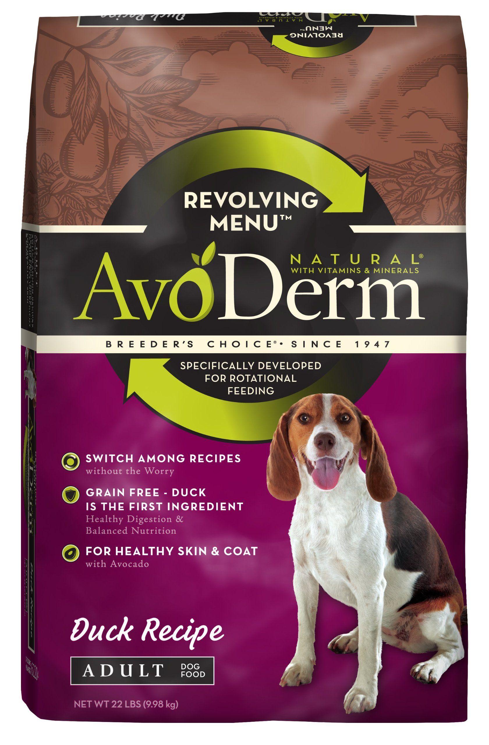 Avoderm Natural Revolving Menu Adult Dog Food Duck 22 Pound