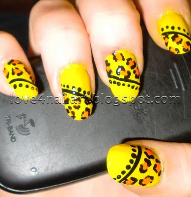 Bright Leopard Animal Print Nails ~ Love4NailArt http://love4nailart.blogspot.com/2011/11/bright-leopard-animal-print-nails.html