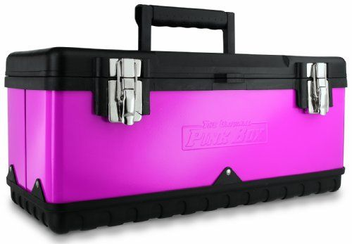 The Original Pink Box PB20MTB 20-Inch Steel Tool Box, Pink Steel construction with a plastic base combine durability with light-weight portability. Compact design with plastic grip handle for comfort. Removable plastic tray keeps small items organized. Insert a padlock into the front tab to make this box lockable. Don't be fooled by the cool color of this box -it's built to last and comes with a l... #The_Original_Pink_Box #Home_Improvement