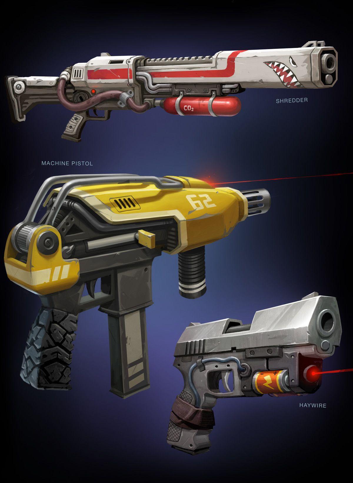 Artstation Fortnite Gun Concepts Drew Hill Funny In 2019