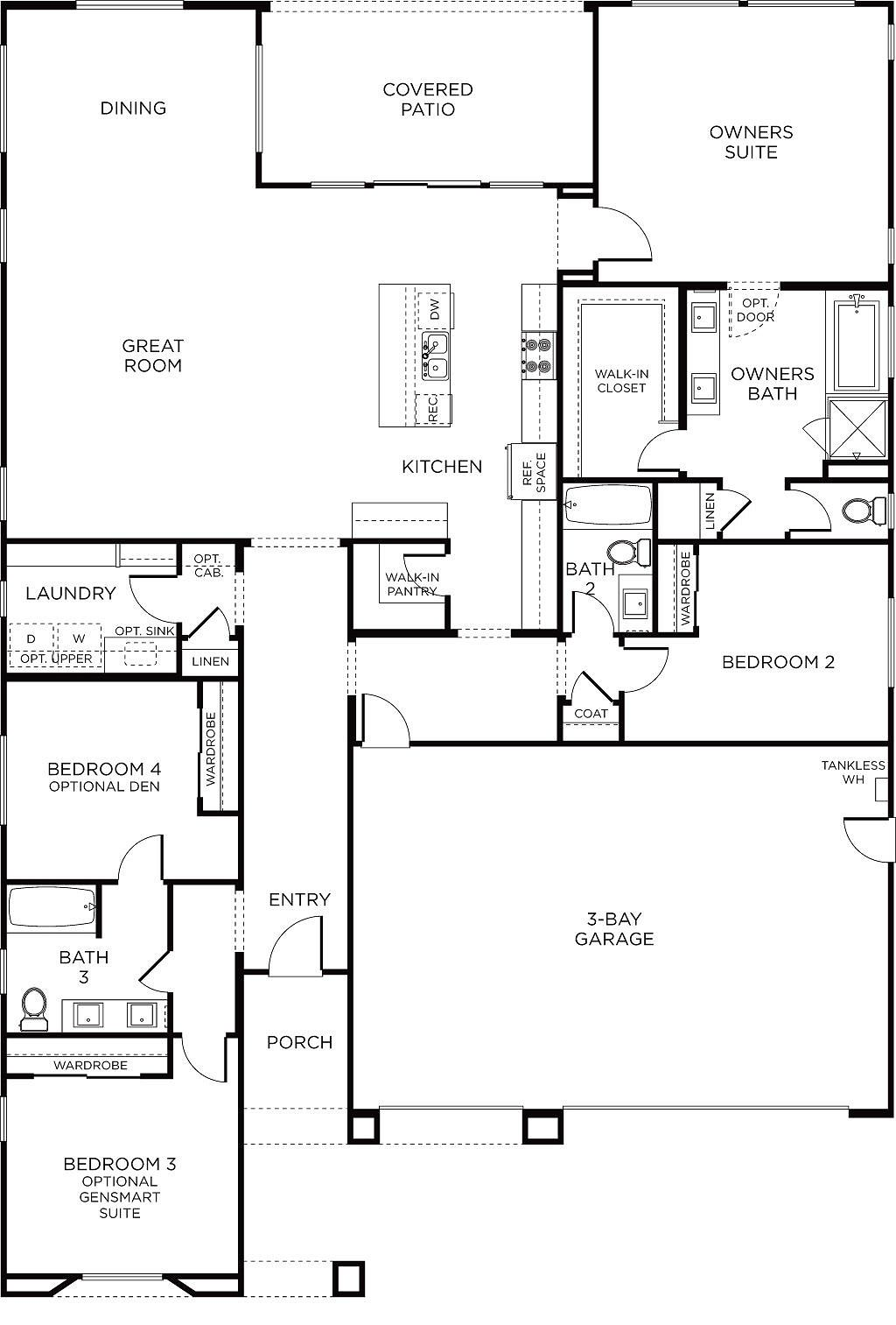 Abrio Plan 1 Floorplan | 5 bedroom house plans, Manufactured ... on ranch log homes, townhouse plans, 3 car garage plans, summer cottage plans, log cabin plans, ranch luxury homes, strip mall plans, ranch modular homes, ranch art, ranch style homes, ranch backyard, floor plans,