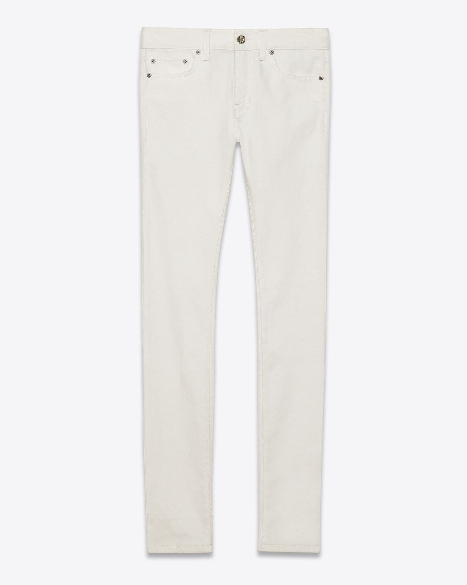 dce6cd7f9b9 Saint Laurent, ORIGINAL LOW WAISTED SKINNY JEAN (White) | Pants ...