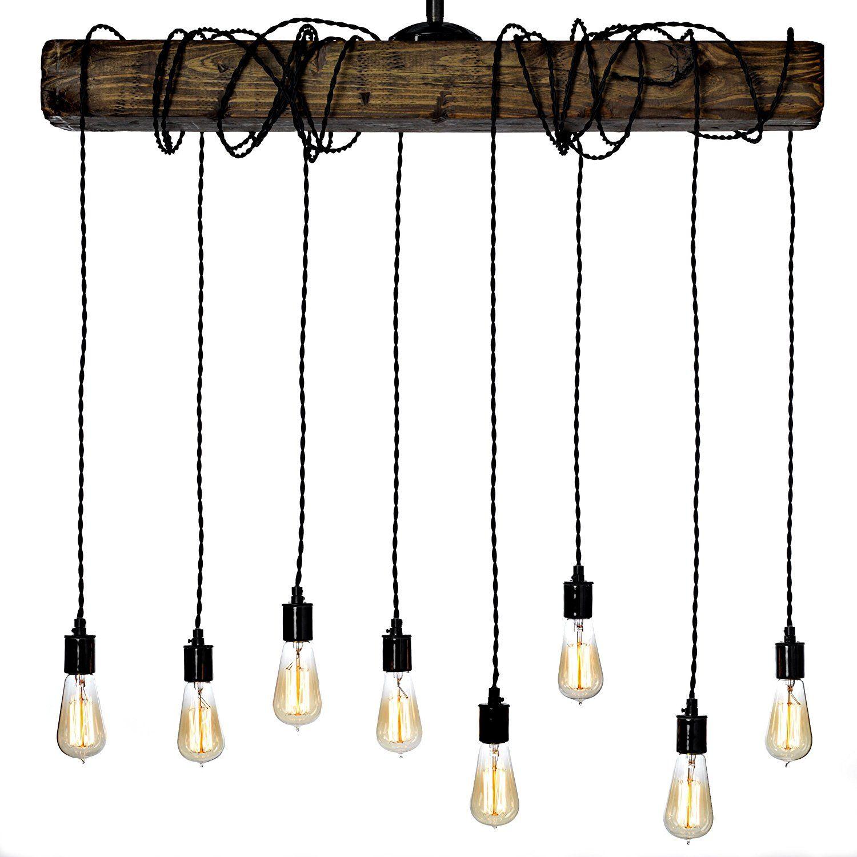 Farmhouse style light fixture wrapped wood beam antique decor farmhouse style light fixture wrapped wood beam antique decor chandelier pendant lighting vintage kitchen arubaitofo Images