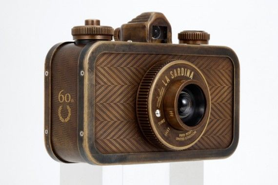 Lomography x Fred Perry 60th Anniversary La Sardina vintage-style camera.