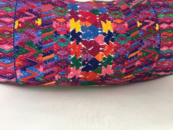 Guatemalan Pillow Cover Vintage Ethnic by HomegirlCollection